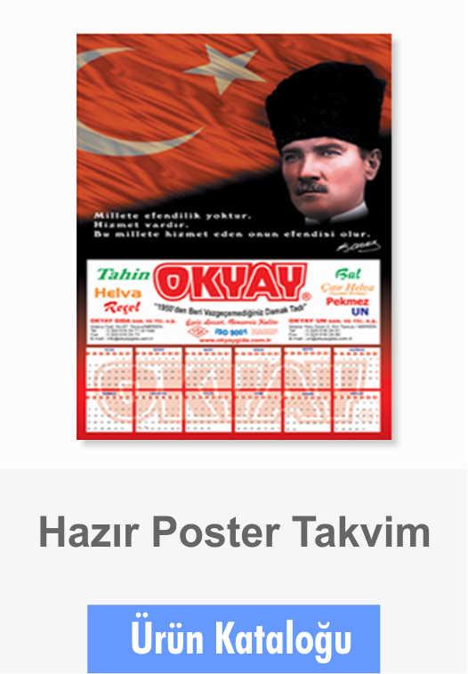 Takvim Ürün Kataloğu Poster