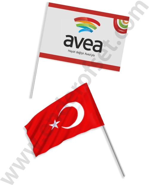Sopalı Bayrak (Özel Tasarım - Türk Bayrağı)