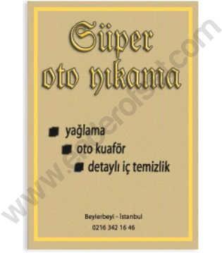 115 Gr. Kraft Kağıt Oto Paspas