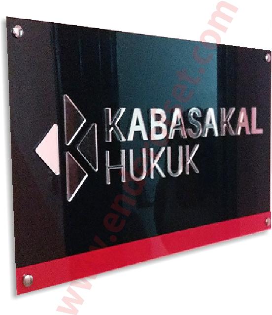 Kabartma Harfli Pleksi Ofis Tabelası