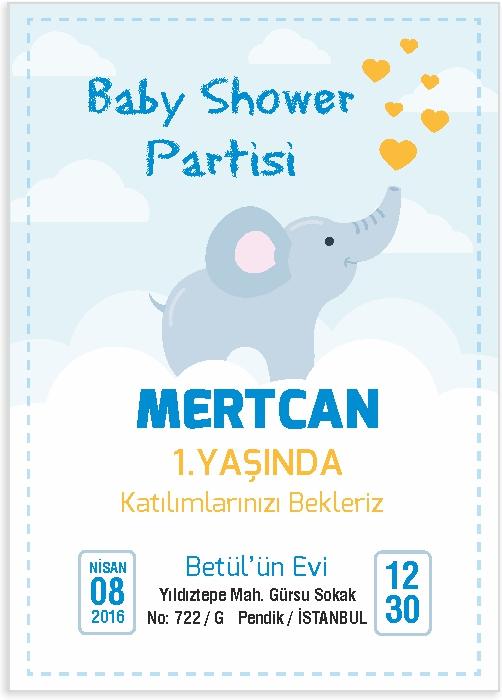 Baby Shower Davetiye