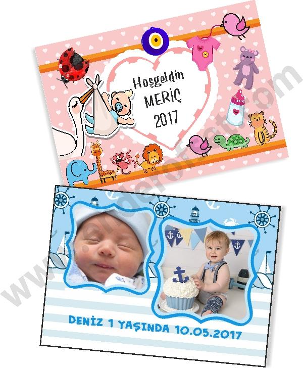 Baby Shower Dikdörtgen Magnet